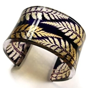 Purple/Gold fern wide cuff