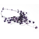 Purple loops necklace