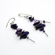 Purple medium earrings