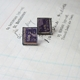 Purple Stamp Studs