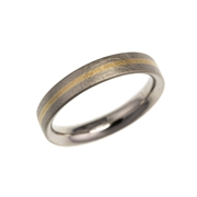 18ct white gold stripe wedding ring