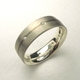Silver and 18ct white gold stripe ring with diamonds