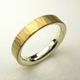 Silver and 18ct yellow gold hammered ring