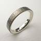 Silver and 18ct white gold hammered ring