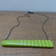 Reversible rectangle green pendant