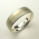 Silver and 22ct gold stripe ring
