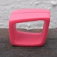 raspberry stripy square ring