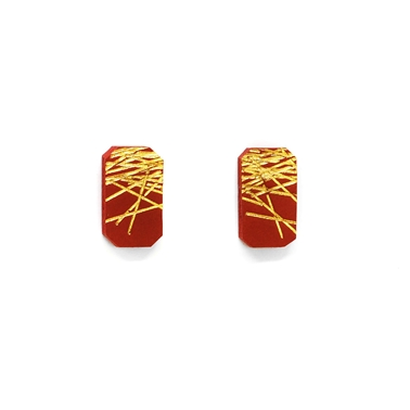 Freehand Rectangular Studs with Lines