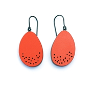 red curve earrings