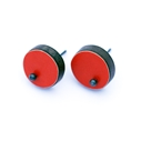red single dot pin studs
