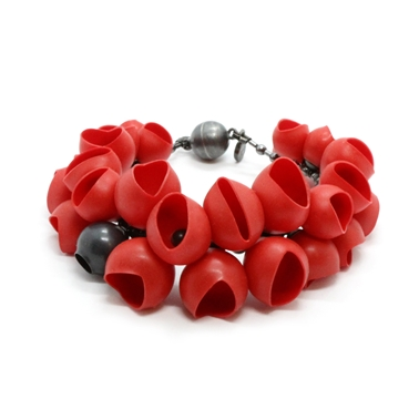 Red cluster bangle