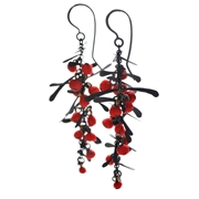 Red Boa Earrings