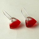 red brushstroke earrings