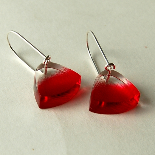 red brushstroke earrings back