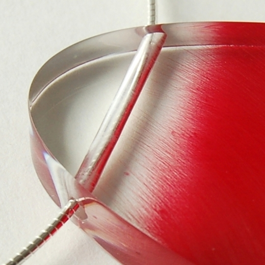 red brushstroke pendant 2