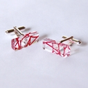 red rectangle cufflinks
