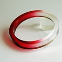 red dip dyed bangle 1