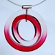 red dip dyed pendant detail