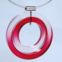red dip dyed pendant