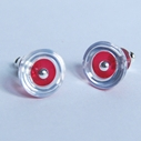 red dome stud earrings