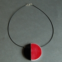 red eclipse necklace