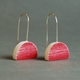 red eclipse earrings