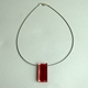 red frayed pendant 1