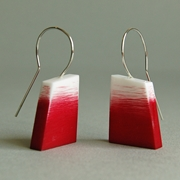 red graffiti earrings