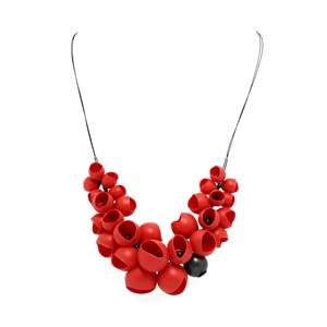 Red Silicone Cluster necklace
