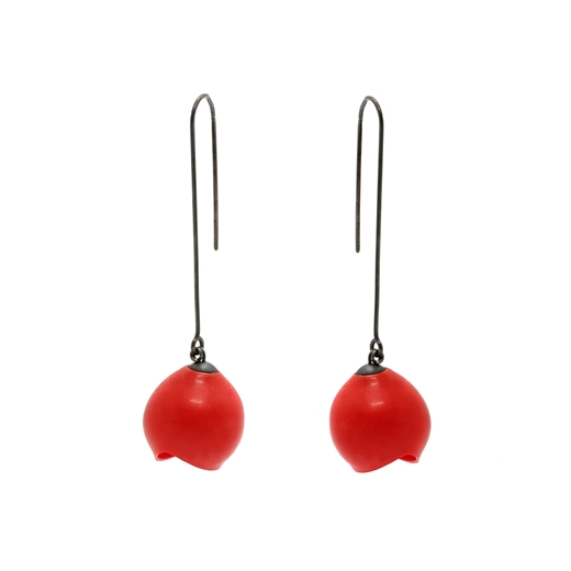 Red long drops - large