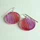 magenta red duo earrings