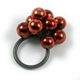 Red Smaller Bubble Ring Oxidised