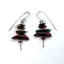 Red small earrings