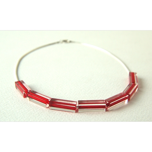 Red through necklace