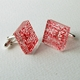 red tweed cufflinks