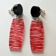 red wired earrings
