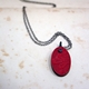 Red Book Cover Pendant Front