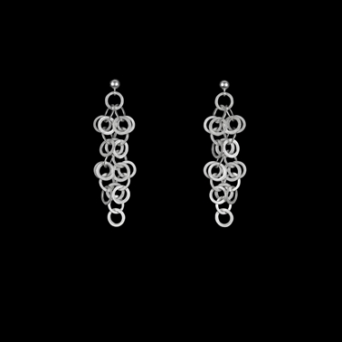 Redpath earrings silver 5.5cm