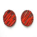 Red Enamel Studs (front)