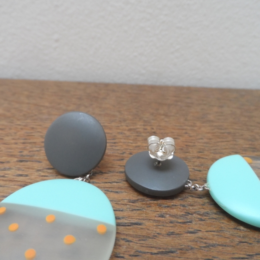 resin earring findings detail