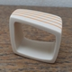 resin square ring-nude with orange stripes