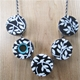 Reversible floral necklace