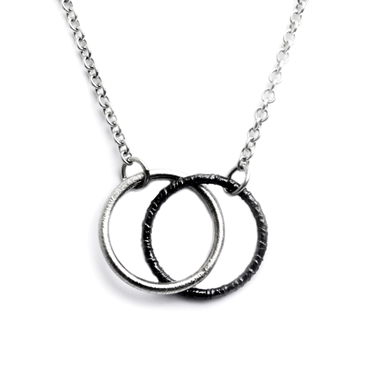 Duotex Double Hoop necklace