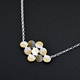 Rhombus reversible pendant necklace