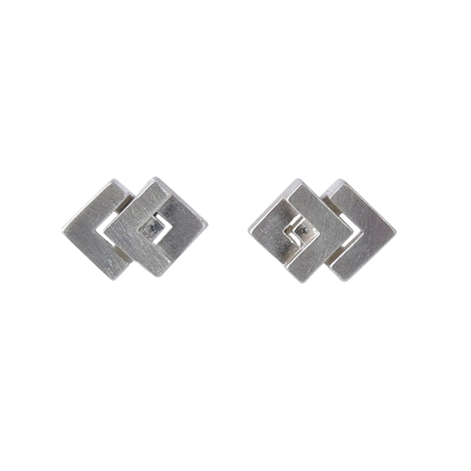 Rhythm Stud Earrings Silver