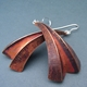 Three fold copper earrings