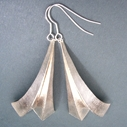 Three fold silver earrings