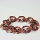 Copper small link chain bracelet