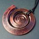 Large copper swirl pendant