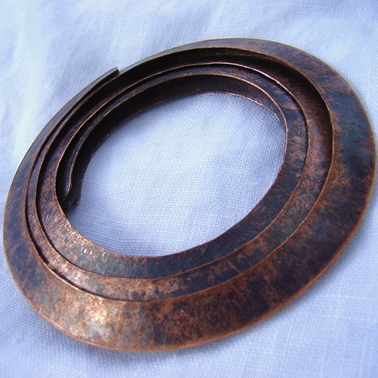 Circle copper brooch